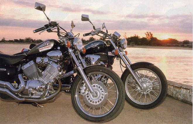 Midnight Star 950 X Boulevard 800on Yamaha Virago 535