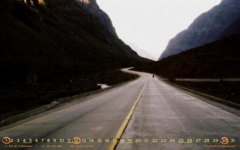 Atravessando as cordilheiras. Chile